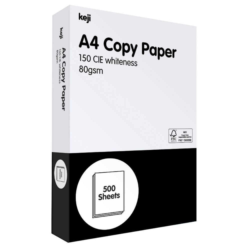 KEJI A4 WHITE COPY PAPER 1 REAM OF 500 SHEETS