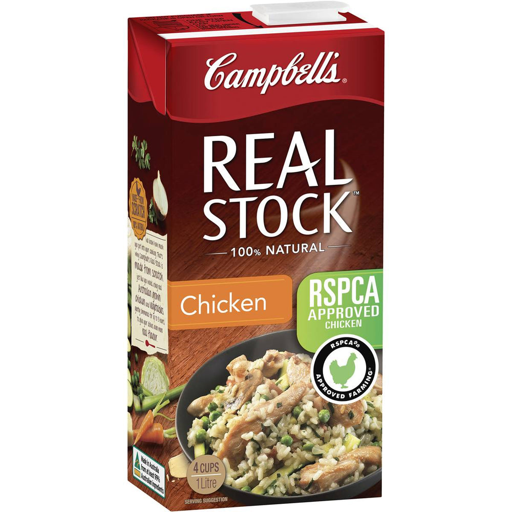 Campbells Real Stock Chicken 1L