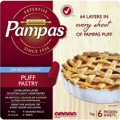 Pampas Puff Pastry 6 Sheets 1Kg