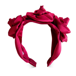Arianna Silk Floral Headband Headband - Alice and Blair