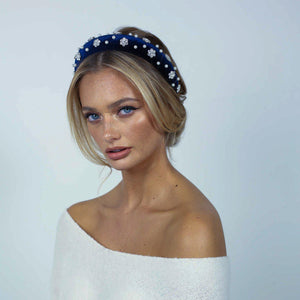 Aurora Royal Blue Headband Headband - Alice and Blair