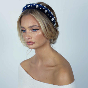 Aurora Royal Blue Headband-Headband-[hair band]-Alice & Blair