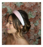 Bethany Velvet Headband-Headband-[hair band]-Pink-Alice & Blair