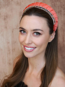 Cleo Silk Croissant Headband Headband - Alice and Blair