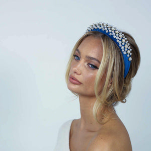 Floria Blue Headband Headband - Alice and Blair