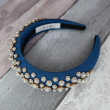 Load image into Gallery viewer, Floria Blue Headband - Alice & Blair