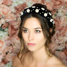 Load image into Gallery viewer, Greta Pearl Headband Headband - Alice and Blair