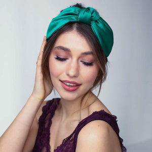 Imogen Knotted Silk Headband-Headband-[hair band]-Alice & Blair