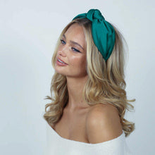 Load image into Gallery viewer, Imogen Knotted Silk Headband Headband - Alice and Blair