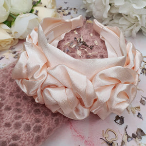 Juliet Silk Floral Headband Headband - Alice and Blair