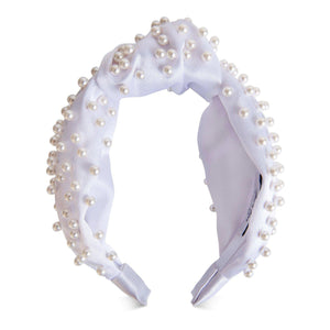 Sasha Silk Pearl Headband-Headband-[hair band]-Alice & Blair
