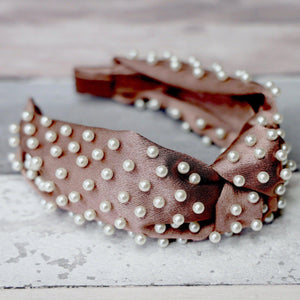 Sasha Silk Pearl Headband Headband - Alice and Blair