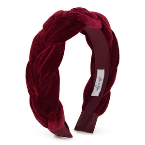 Sofia Velvet Headband-Headband-[hair band]-Maroon-Alice & Blair