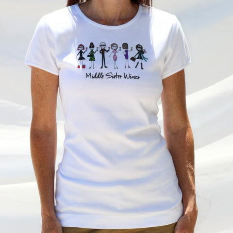 Middle Sister Six Sister Scoop Neck Tee