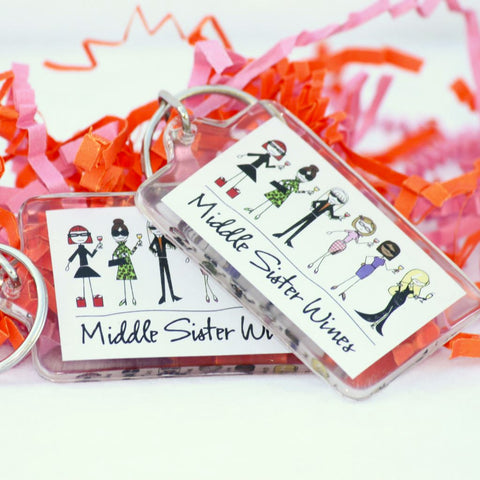 Middle Sister Six Sister Key Chain