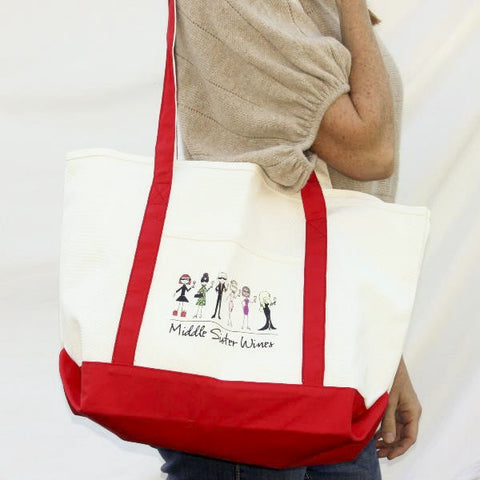 Middle Sister Canvas Long Handled Tote