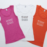 Wine Sisterhood Tank, available in Pink, White, and Orange