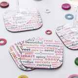 The MacBeth Collection Coasters (words)