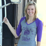 Purple Cowboy Baseball Tee