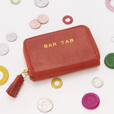 Monaco Ave Bar Tab Pouch in Wine Sisterhood Orange