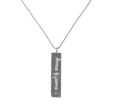"""Sweet & Sassy"" Silver-Plated Charm Necklace"