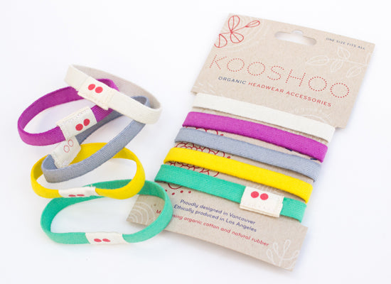 colorful organic cotton hairties