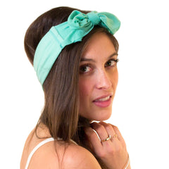 green bow headband for girls