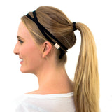 black skinny headband