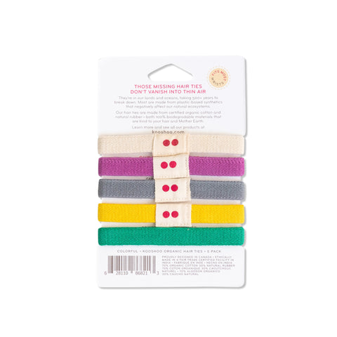 colorful hair elastics organic plastic-free