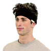 black organic headband for men