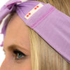 TIE HEADBAND dusty purple