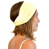 TWIST HEADBAND yellow batik