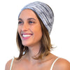 women wide grey headband