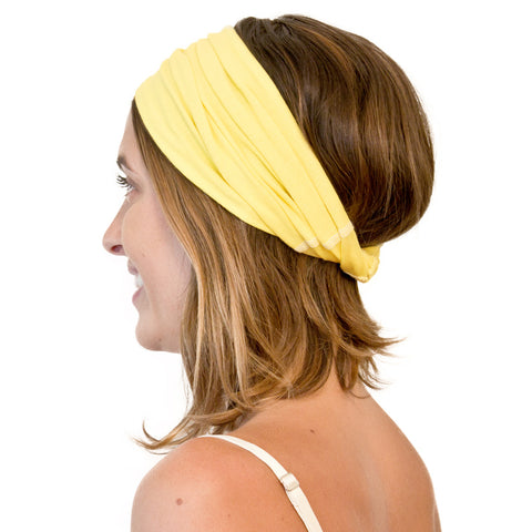TWIST HEADBAND yellow (5-pack)