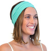 green yoga headband