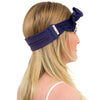 TIE HEADBAND crown blue