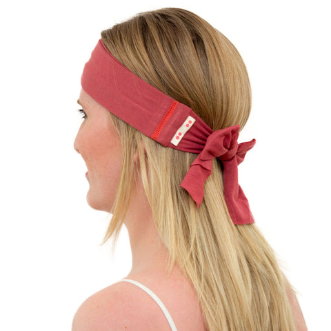 TIE HEADBAND marsala red
