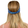 TWIST HEADBAND crown blue batik