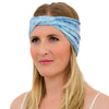 TWIST HEADBAND ether blue batik