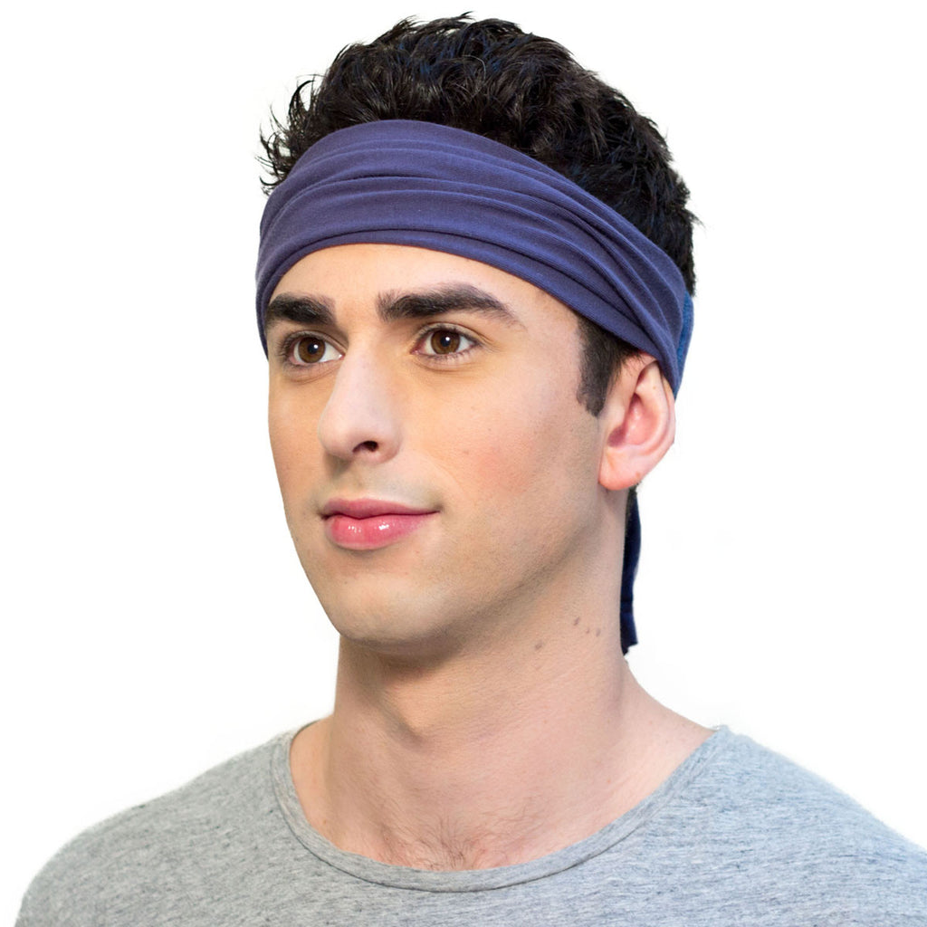Navy headband for men  5d04450eabb