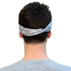 tennis headband grey