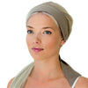 women's cotton grey headscarf, headband