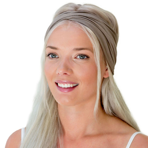 women's brown twist headband