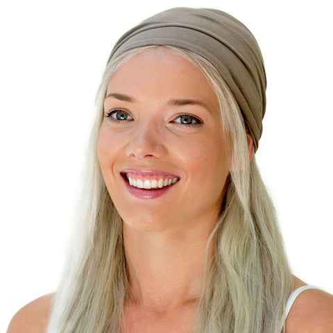 women's brown grey bandana