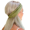 women's olive green cotton headband