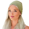 women's olive, avacodo green headband