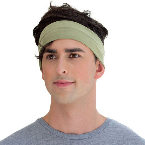 men's army green sweatband