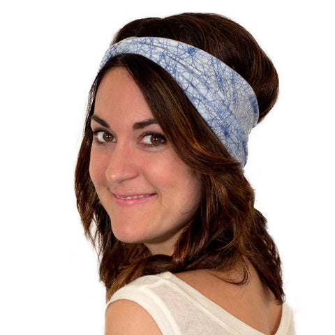 hand dyed blue headband for women