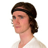 skinny black headband for men