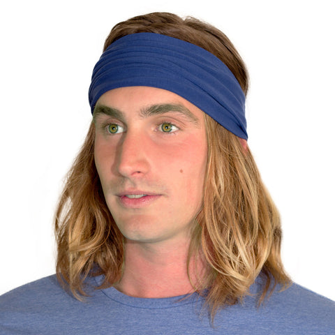 blue tennis headband for men